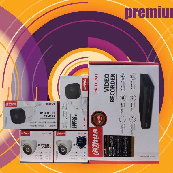 پکیج پریمیوم 4 عددی دوربین داهوا 2MP